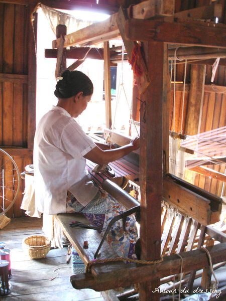 workshop lake inle soierie birmanie