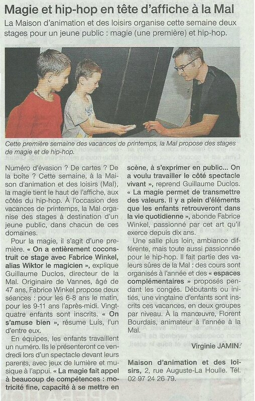 article ouest stage la mal MODIFIE