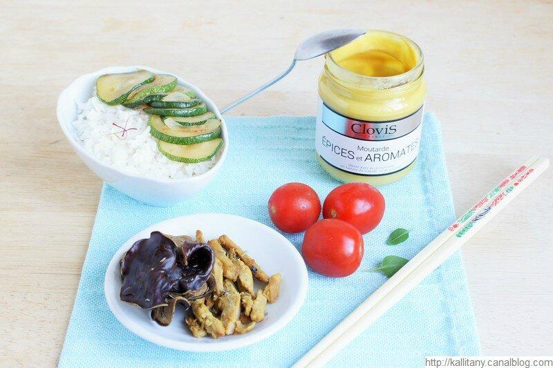 Blog culinaire Kallitany _ Recette VG riz basmati aiguillettes et moutarde (18)