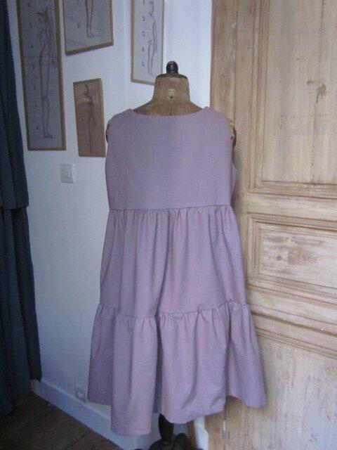 Robe CAROLINE en coton vieux rose (7)