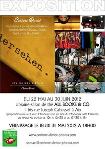 Corinne DERIOT - AFFICHE EXPO ALL BOOKS & CO mai-juin 2012