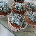 Muffins coco coeur choco fondant