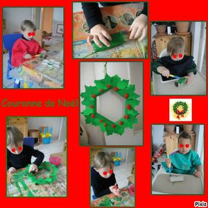 photocollagecouronne de noel