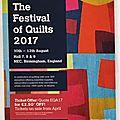 Festival of quilts de birmingham