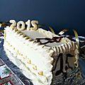 Bûche crème au beurre nouvel an