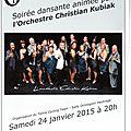 Bal kubiak à hautrage le 24 janvier 2015, les réservations vont bon train... il reste une centaine de places !!!