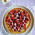 Tarte à la crème brûlée et fruits rouges