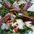 Magret de canard en salade  lItalienne