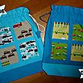 036, 037. sacs petites voitures