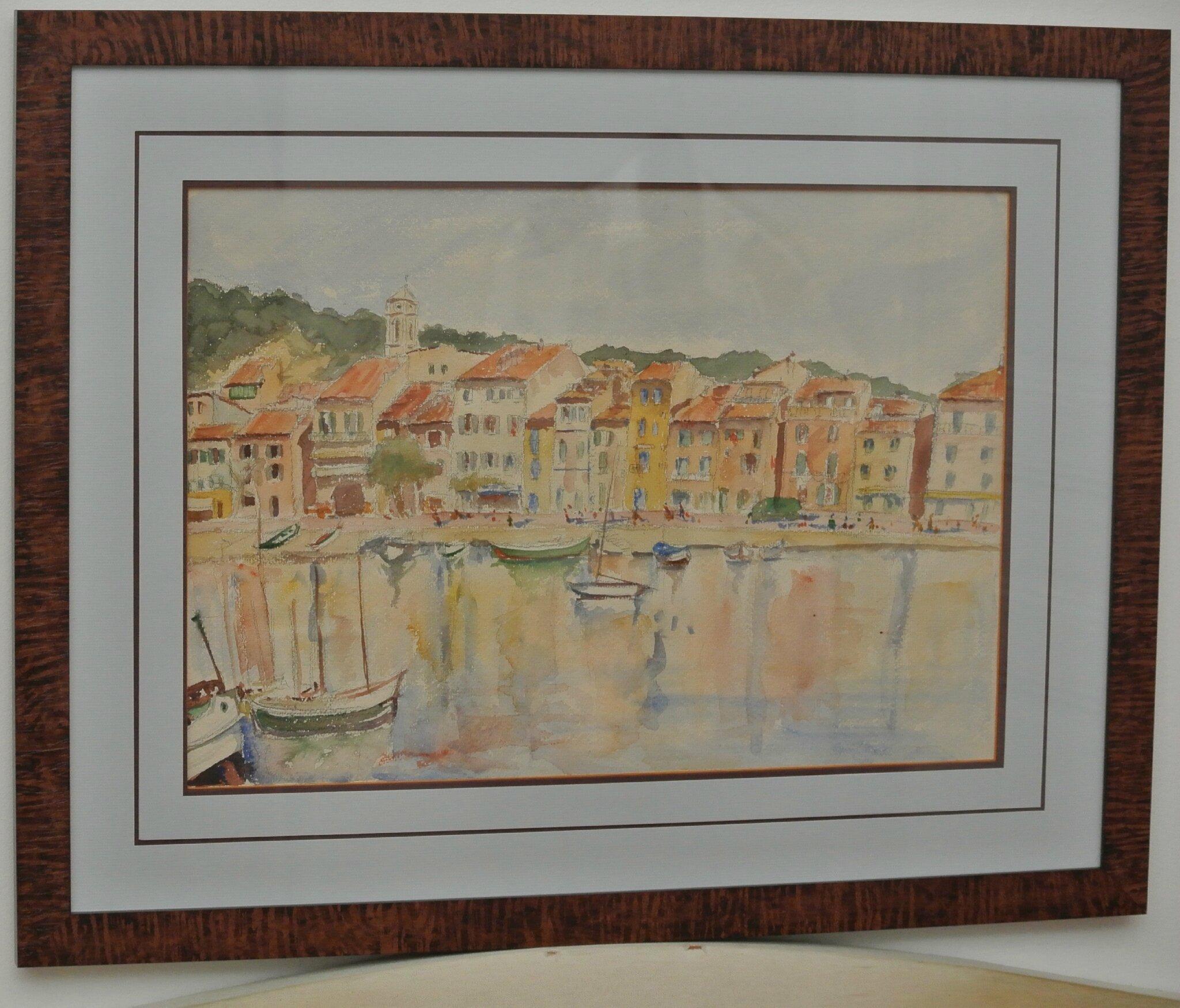 Aquarelles- maison de famille- port de Cassis- ville d'Evreux