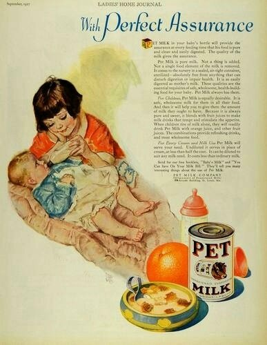 maud tousey fangel pet milk 1927