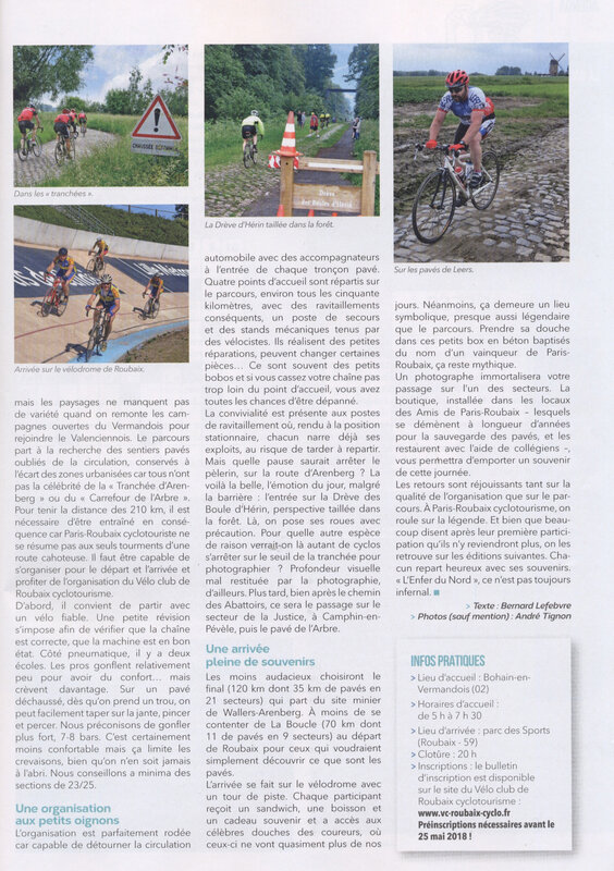 CYCLO PARIS ROUBAIX PAGE 2