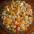 Salade aux haricots blancs et poivrons rôtis...