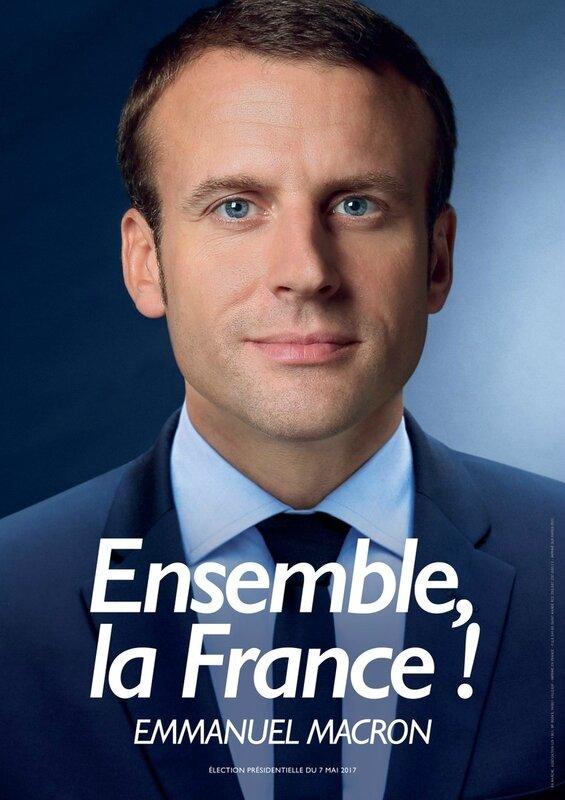 Affiche officicielle Macron