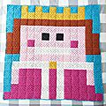 Princess pixel plaid.
