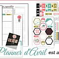 Kit planner scrap a la carte (avril)