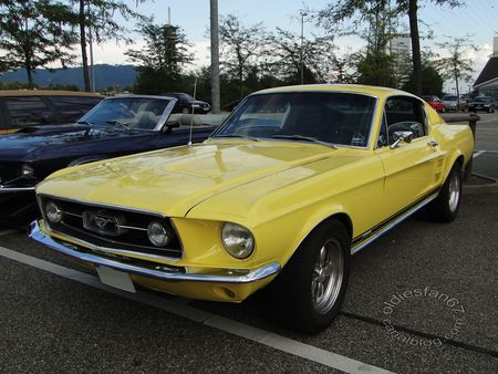 ford mustang gta fastback coupe 1967 rencard burger king offenbourg 1