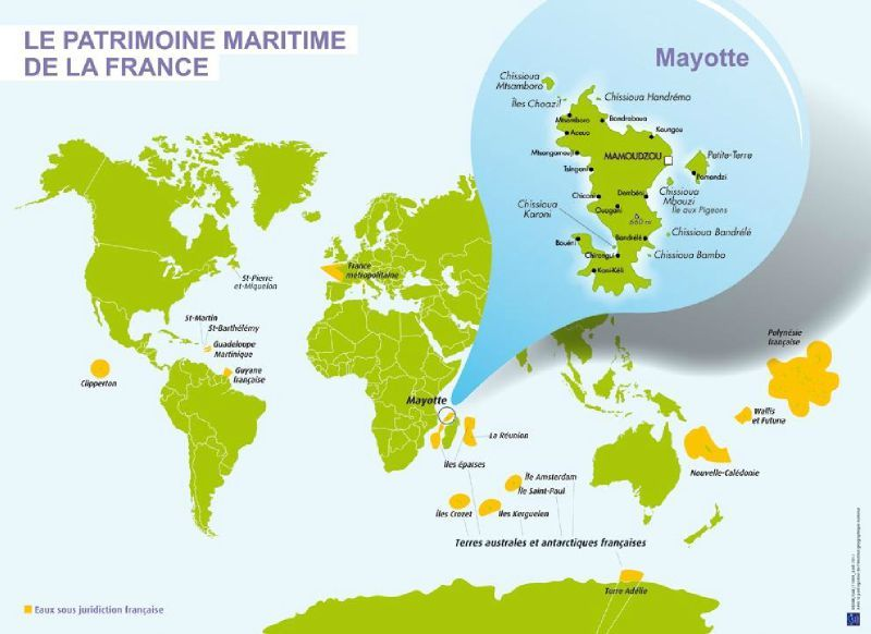 mayotte carte du monde - Photo