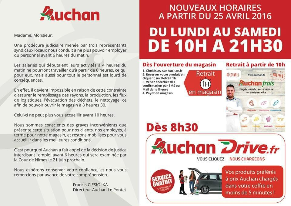grande distribution tous les messages sur grande distribution page 5 auchan cftc valence. Black Bedroom Furniture Sets. Home Design Ideas