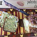 Cake à la polenta et au chèvre