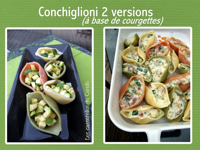 Conchiglioni farcis 2 versions (scrap)