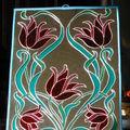 Miroir (peinture sur verre)