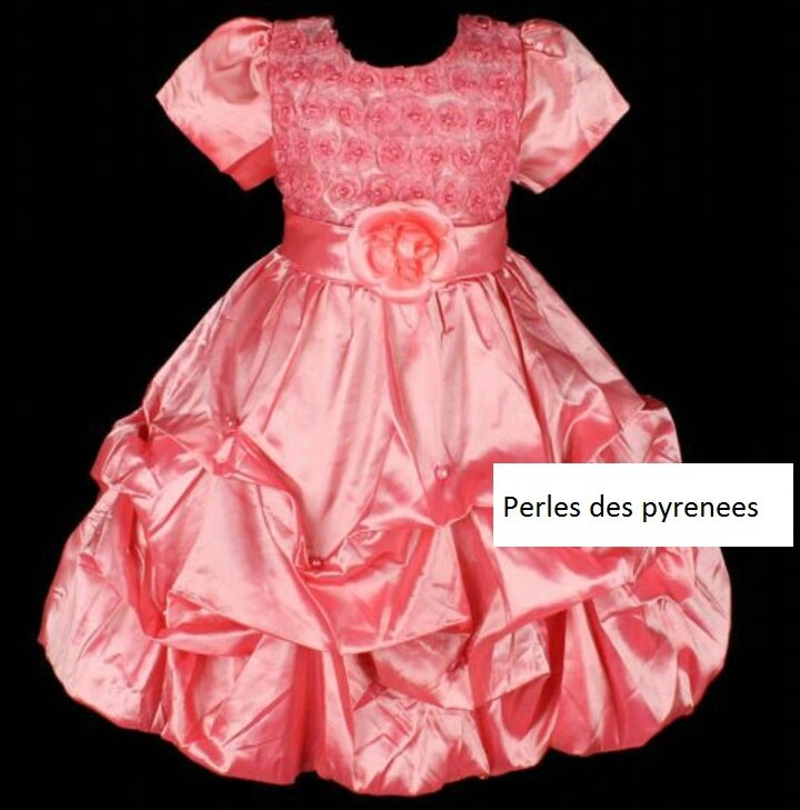 robe fillette 8/9 ans saumon