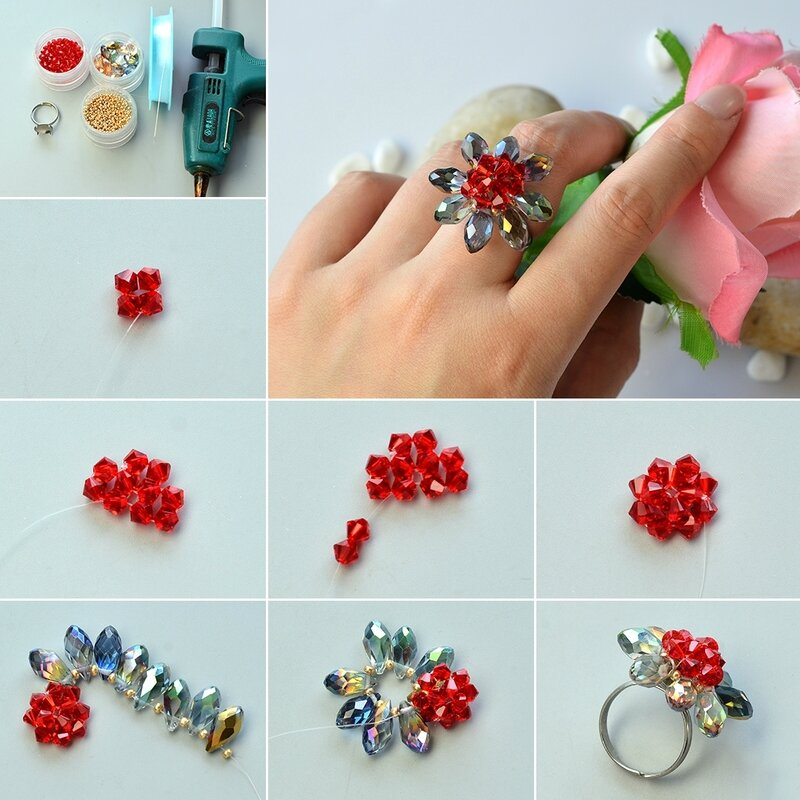 1080-How-to-Make-Electroplate-Glass-Bead-Chrysanthemum-Ring