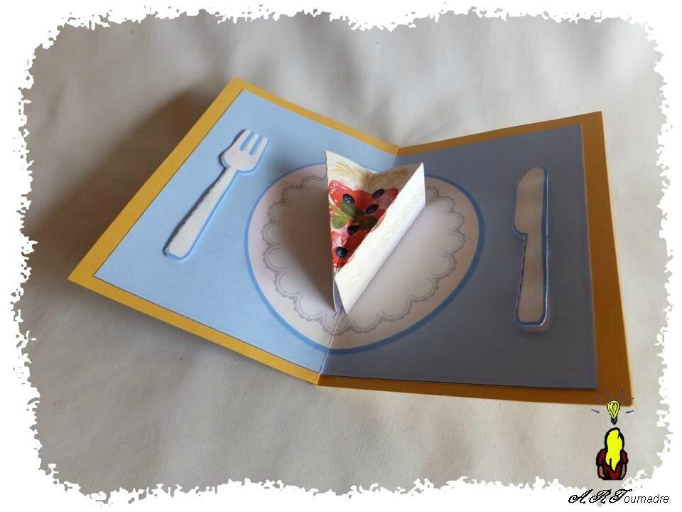 Carte pop up une part de g teau pour ton anniversaire - Gateau a imprimer ...