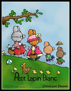 tuto gimp - dessin simple: Lapins colories gloewen noir