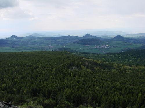 2008 05 12 Paysage en direction de l'ouest depuis le sommet du Pic du Lizieux