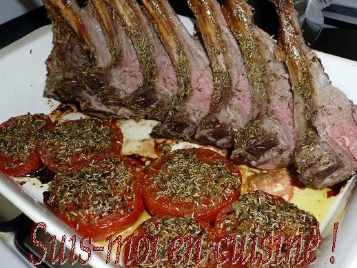 Carr d 39 agneau au romarin au miel et ses tomates la - Cuisiner cote d agneau ...