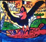 JABER Le rapace 2003 90 x 100