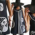 Toutes les nouveautés mode printemps 2016 isamade : robe trapèze graphique en version bicolore noir blanc.