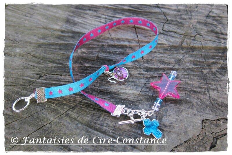 bracelet double tour Marie ange et étoile-2