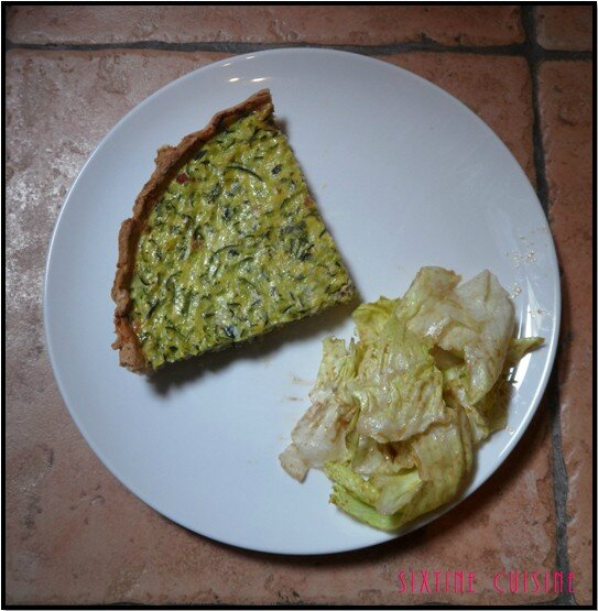 Quiche courgettes lardons 1