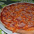 Pizza jambon mozza