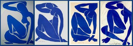 Matisse Nu bleu I II III IV 1952