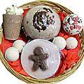 Corbeille de bain chocolat et pain d'epices