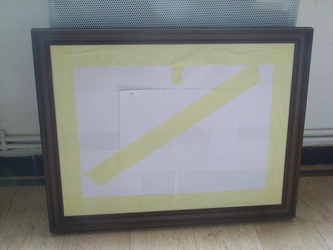Miroir jaune cire avec un filet or d coration du bontemps for Miroir jaune