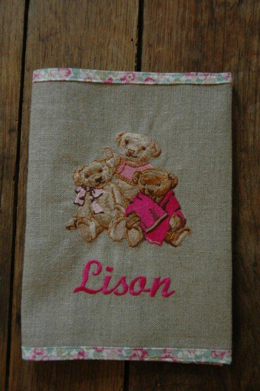 cadeau pour LISON protege carnet de sante