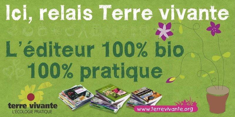 Les JARDINS De TARA vous donnent R.V. sur les Foires et salons BIO avec un nouveau stand présentant les Editions TERRE VIVANTE!