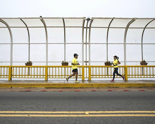 peru lima jaune joggers