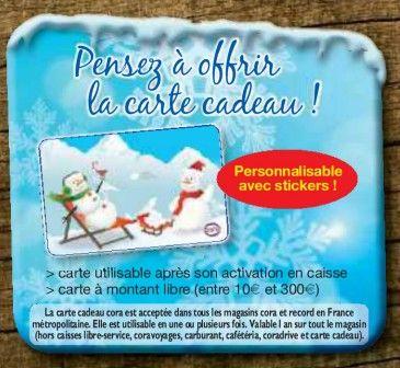 carte cadeau cora personnalisable avec stickers le blog des cartes cadeaux. Black Bedroom Furniture Sets. Home Design Ideas