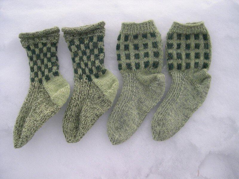 4 chaussettes carrées