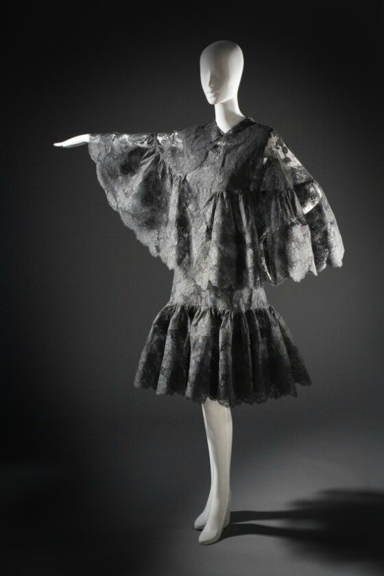 Cristóbal Balenciaga, Woman's Cocktail Dress and Cape, circa 1964