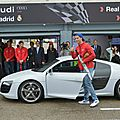 Real madrid life : video cristiano ronaldo mesut ozil pépe kaka players receive their audi cars