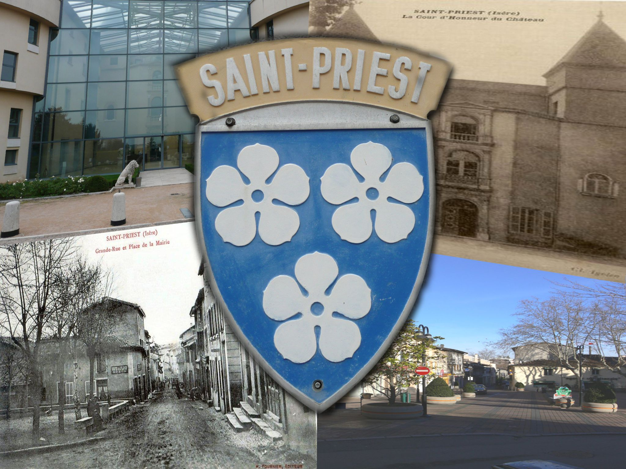 Montages photos ville de saint priest d 39 hier et d 39 aujourd 39 hui creationsy - Piscine saint priest ...