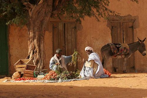 Marchant de légume à Chinguetti