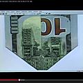El hierro tsunami campagne de peur pour coller avec une cabale apocalyptique imprimée sur un billet de 100$
